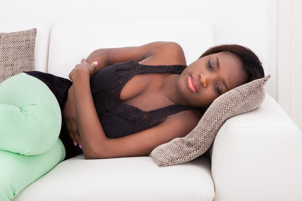 Woman Suffering From Menstrual Pain